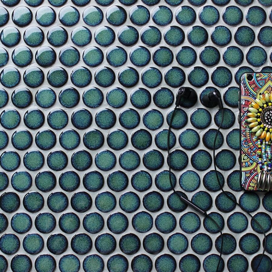 European Antique Villa Penny Tile Company Royal Metro Blue Green ...