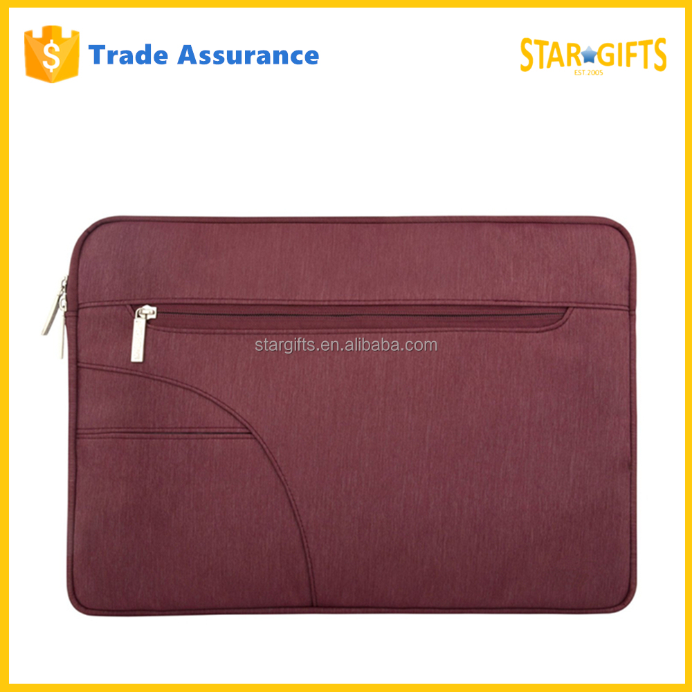 Custom Old Fashion Wine Red 13.3 Inch Universal Cheap Polyester Laptop Sleeve