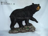 New garden decoration polyresin black bear