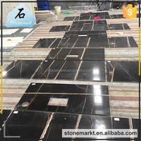 Fashion black sahara nior paint cheap preccut kitchen marble countertop
