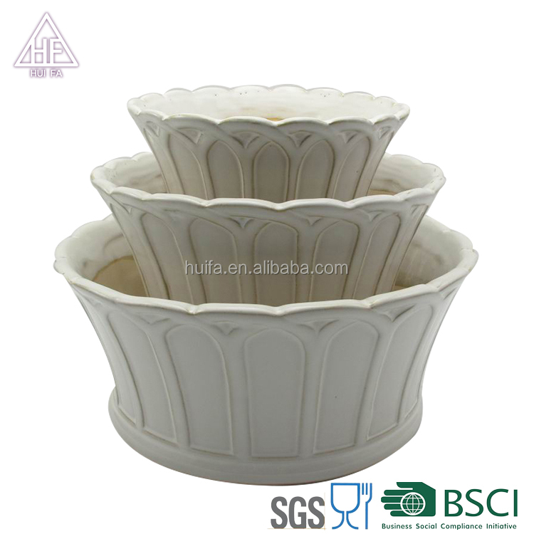 Garden Supplies Ceramic garden round glazed Flower Pots