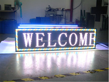 super slim wireless led outdoor programmable led moving signs\ white led open sign