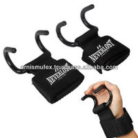 Custom weight lifting wrist straps with hooks