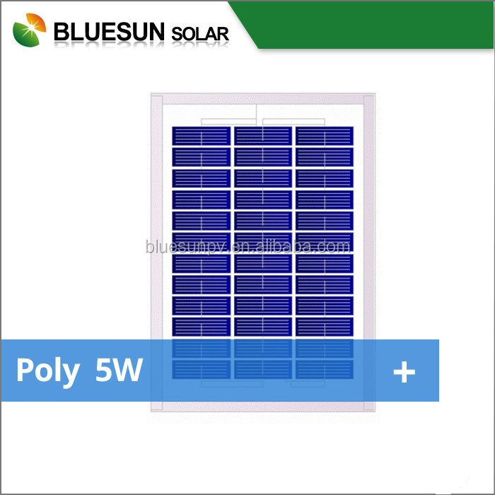 ISO certificate 12v 5w solar panel low price mini solar module