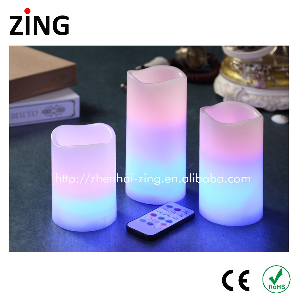 wholesale decorating real wax flameless candle with cheapest price