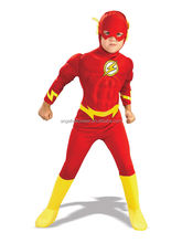2017 hot sale kids flash costume deluxe halloween cosplay costume FC2272
