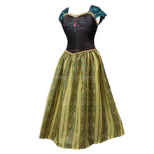High quality cheap custom made adult womens anna princess dress fancy costume for adult BWG-4100