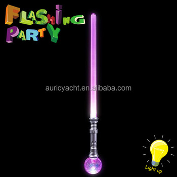 Multi color LED flashing sword with ball