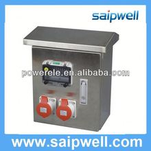 2013 IP67 stainless steel industrial combination plug socket box