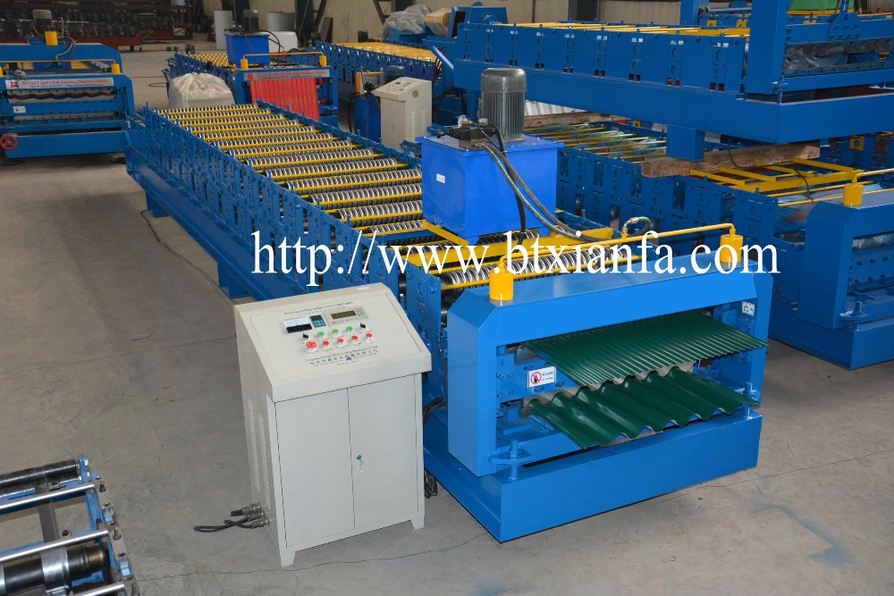Iron Sheet Double Layer Corrugated Roofing Sheet Forming Machine