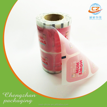 Colored aluminum Foil Food Packaging Film/plastic Laminated Packing Film Roll For Snack