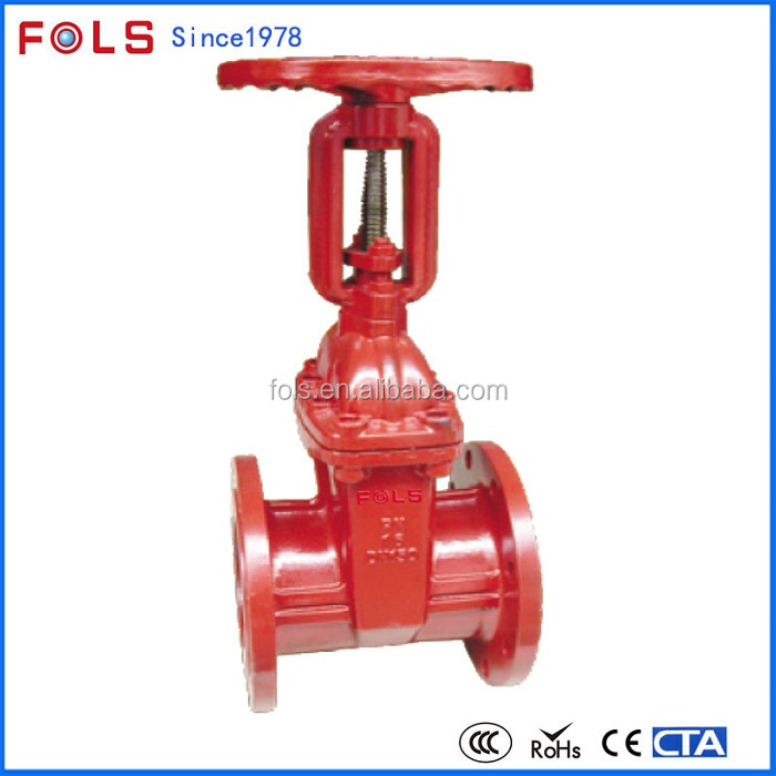 fire protection system water cast iron gate valve