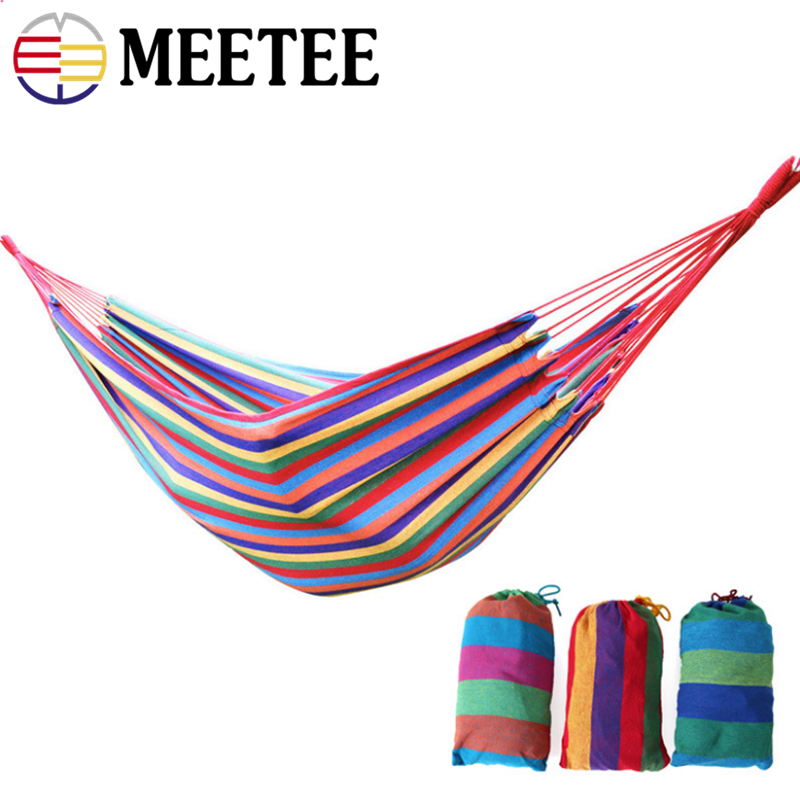 Outdoor leisure hammock hanging chair canvas camping swing dormitory hammock