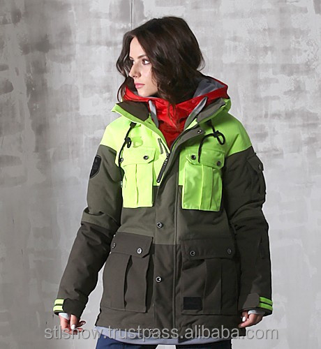 2014/2015 High quality waterproof 20000mm ski & snowboard jacket, Opera N.Yellow/Khaki/D.Khaki