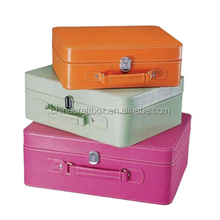 portable PU leather makeup case , luxury leather beauty cosmetic case