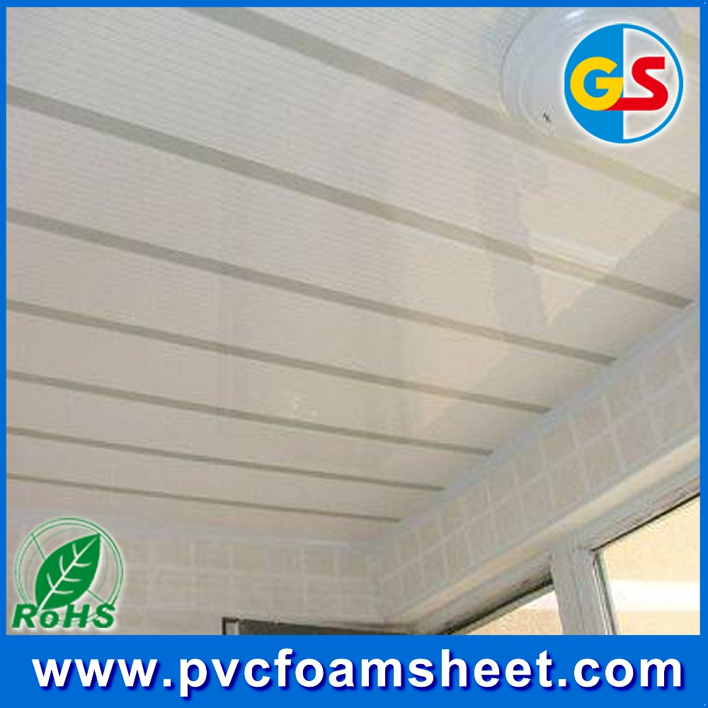 roofing/flooring/wall panel 1220*2440mm hard white PVC free foam sheet