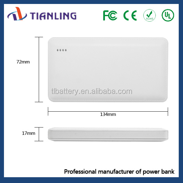 2015 new ultra thin Credit Card Size Power Bank 4000mah 5000mah for mobile phone