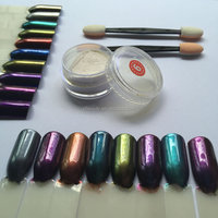 Wholesale 18colors 5G jar chrome mirror effect pigment nails #PGP-15 fast easy calcium-aluminum mirror nail powder