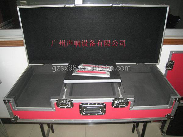 DJ flight case with stand and table