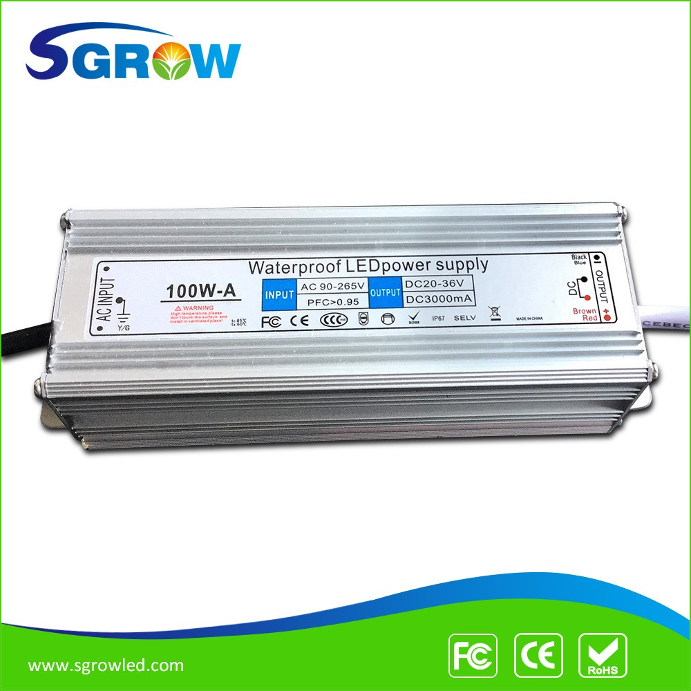 Shenzhen Waterproof LED Power Supply,100W LED Driver 20-36V