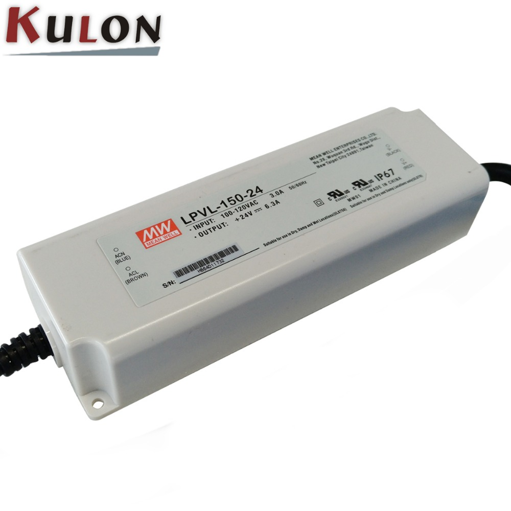 Meanwell LPV-150-24 constant voltage indoor lighting 24v 150w led driver
