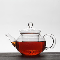 250ml Small borosilicate glass tea pot with glass filter and glass lid