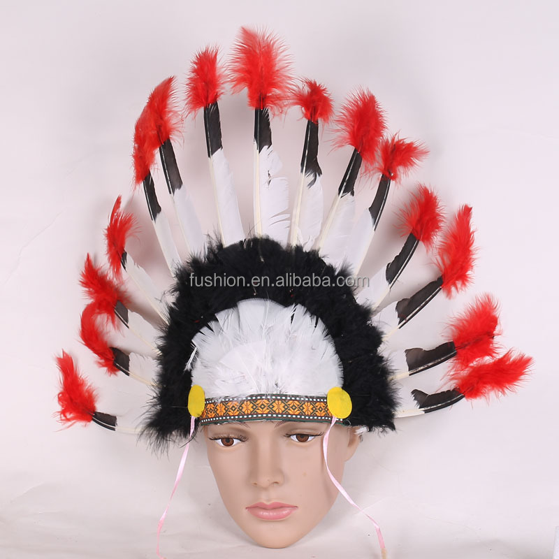 Halloween Cosplay kids Egyptian Pharaonic feather tiara King Crown