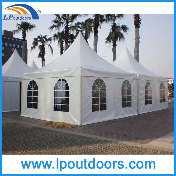 9x9m 2015 commercial wholesale High Peak Marquee Portable Square Drop Ceiling Chinese Pagoda Tent for Outdoor Wedding