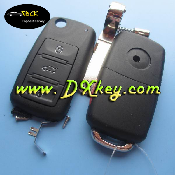 Shock price remote key shell with 3 button for key vw Touareg vw key cover