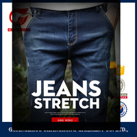 New Arrival summer style men jeans trousers korean slim skinny ripped jeans for zipper ruched denim men's jeans trousers for men