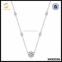 Latest Design Beads Necklace 925 Silver Necklace CZ Chain Jewelry