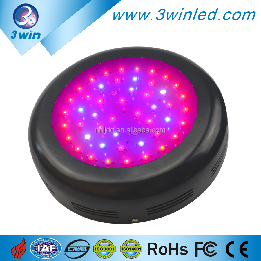 250W UFO LED Grow Light 50*5W Full Spectrum for Green Houses Hydroponic Systems with CE FCC RoHS Approved