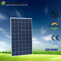 Bluesun PV system use poly 250w 255w 260w 265w solar panels india