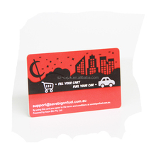 Fill your standard dimension smart pvc card fuel your car