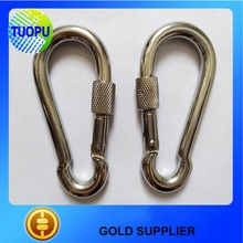 rigging hardware spring snap hook with safety latch