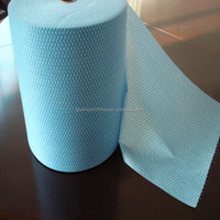 waved spunlace nonwoven fabric for dry and wet wiping