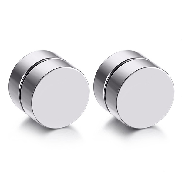 Non-piercing stainless steel magnetic ear tunnels and plugs wholesale