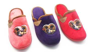 China Suppliers cotton-blend terry kids indoor slippers