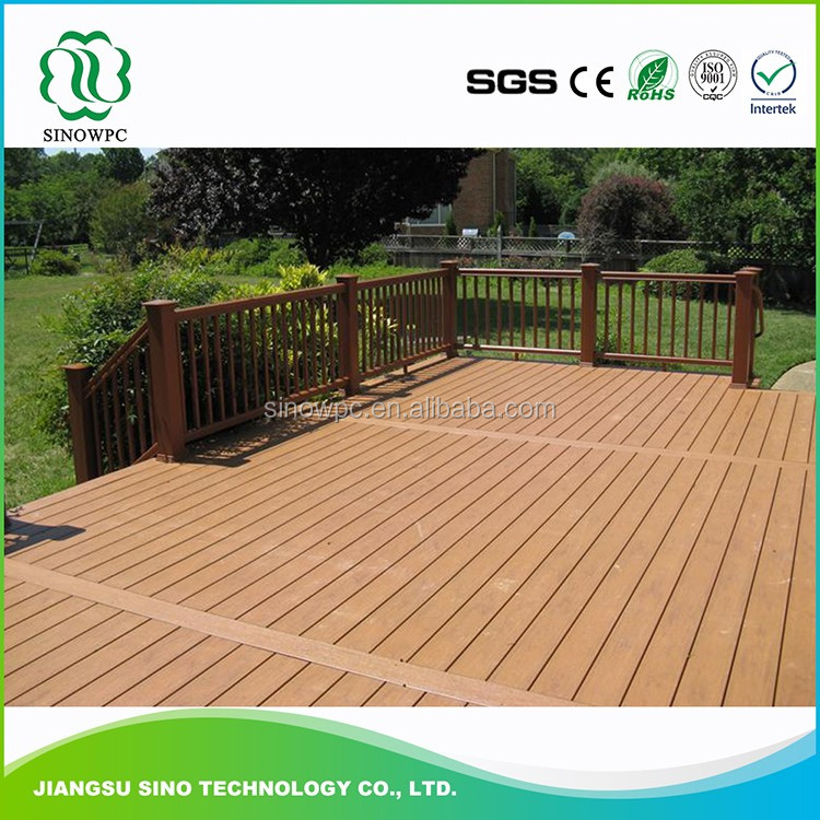 Recycled grooved wpc wood plastic composite boards