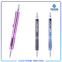 Raw material New style shiny popular gel ink metal ball pen