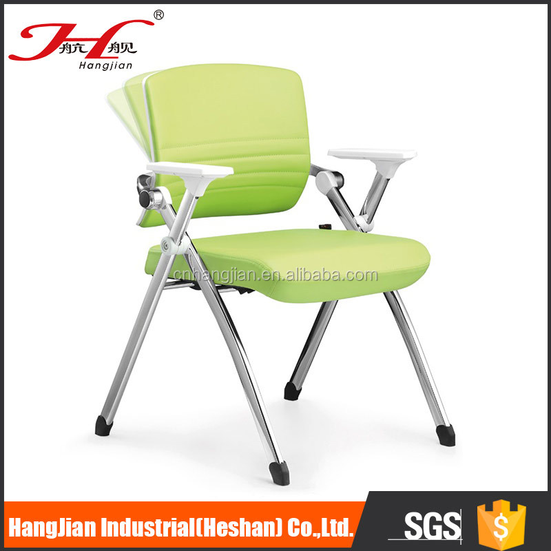 hot selling stackable conference 4 leg chromed chair