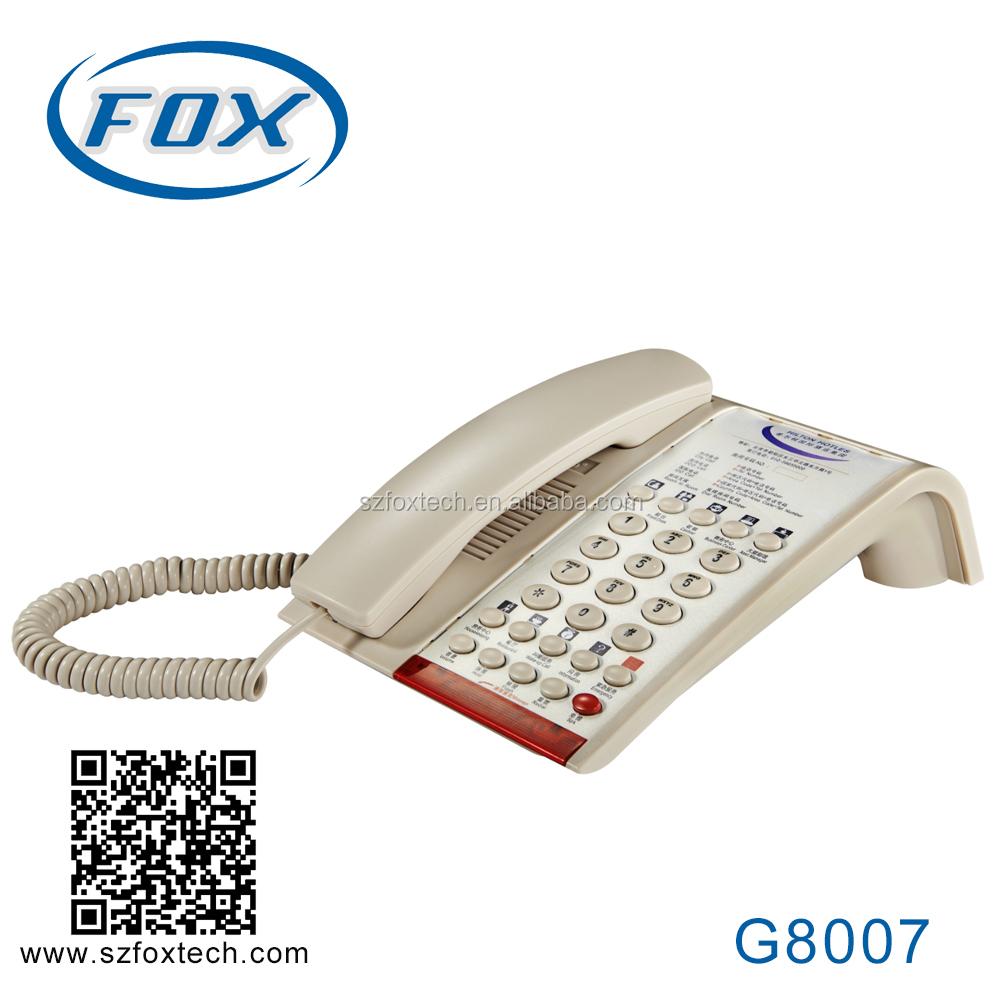 FOX high quality analog hotel guest room phone G8007