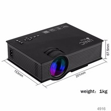 Alibaba express UNIC UC46 LED Portable Projector WIFI VGA/USB/HDMI/SD/AV 1200lumens