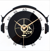 customize acrylic decorative wall clock different shape