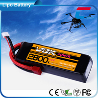 14.8 Volt 2800mAh 4cell 25C rc high power batteries packs model shop for helicopter and car