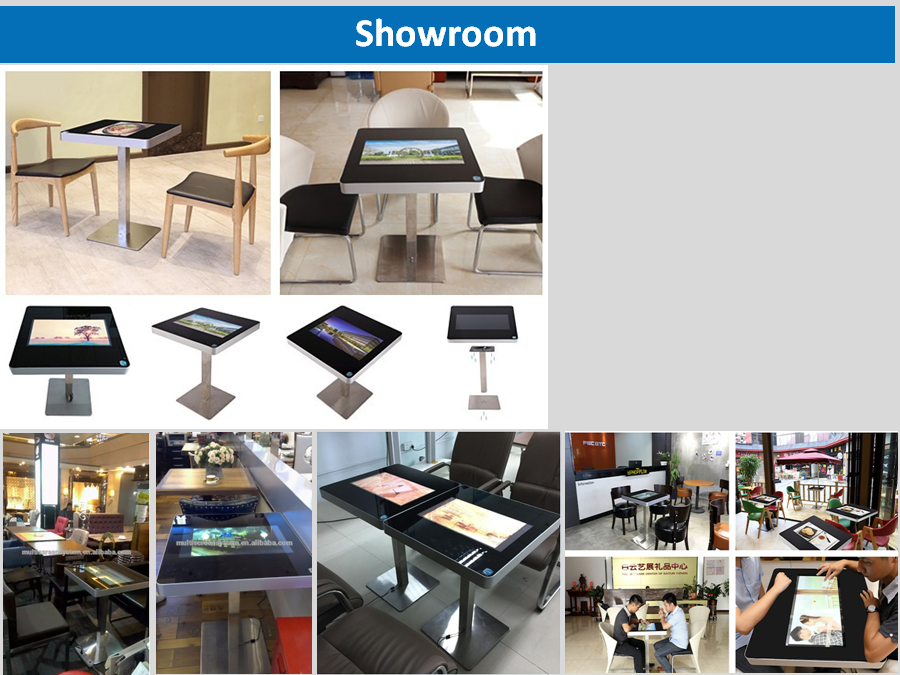 EKAA android 5.1 capacitive touch screen coffee table restaurant using indoor
