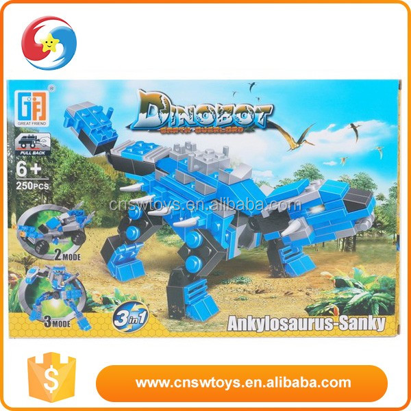 dinosaur world action finger building block
