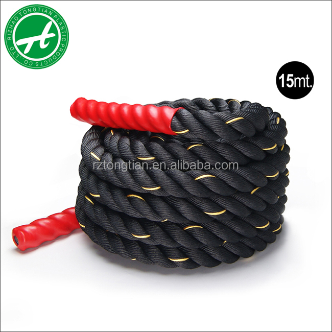 Crossfit battle rope fitness rope for body building