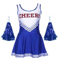 High quality girl's dance dress design cosplay cheerleader costumes AGC028