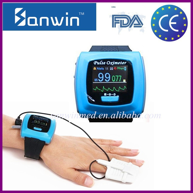 Bluetooth and USB Wrist Pulse Oximeter with CE&FDA approved